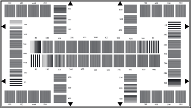 TE224 A HDTV Resolution Test Chart 50-1000 CPH 16:9 Reflectance