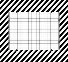 Distortion Grid Camera Test Chart