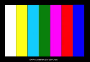 Standard Color Bar Chart For Color Camera adjust, True color