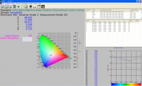 SQCT software special for NS808 spectrophotometer Traffic Si